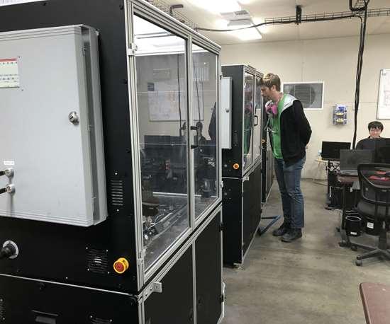 "Interior of 3DEO's printer ""pod"""