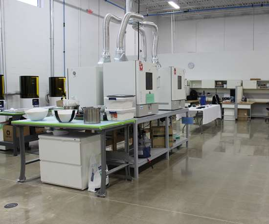 Additive manufacturing production space at The Technology House