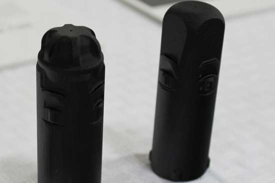 Vitamix design iterations of nozzle 3D-printed from RPU 70