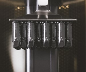 Vitamix nozzles inside continuous liquid interface production printer from Carbon