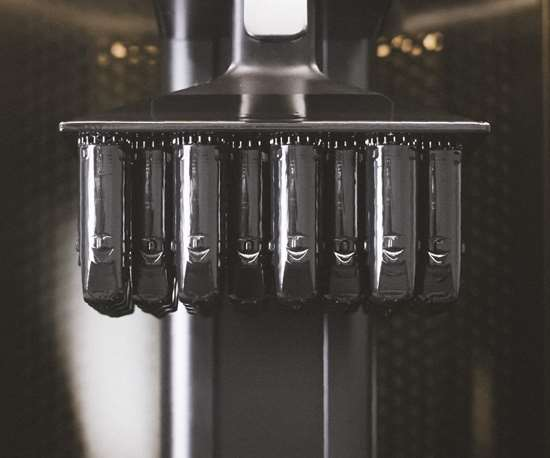 3D-printed vitamix nozzles on Carbon build platform