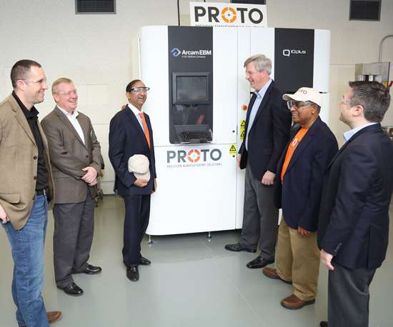 Proto Precision Manufacturing Solutions' Arcam Q10+ installed at The Ohio State University's Center for Design and Manufacturing Excellence