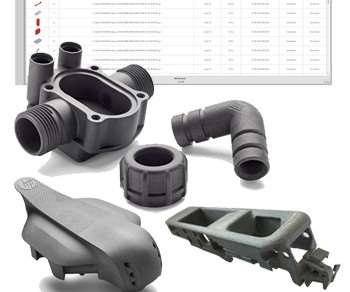 Additive Innovation Partfinder software and HP Multi Jet Fusion 3D-printed parts