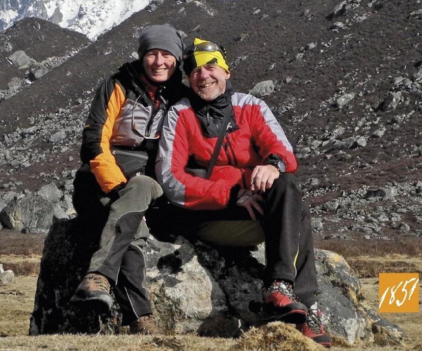 Italian mountaineers Romano Benet and Nives Meroi