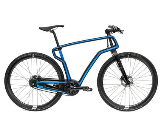 Commuter bike with 3D-printed frame designed by Studio West and made by Arevo with Hexcel material