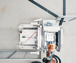 automated cell with EOS 3D printer and robot