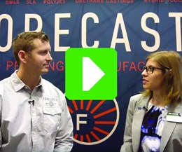 Ken Burns, Technical Sales Director, Forecast 3D; Stephanie Hendrixson, Senior Editor, Additive Manufacturing magazine