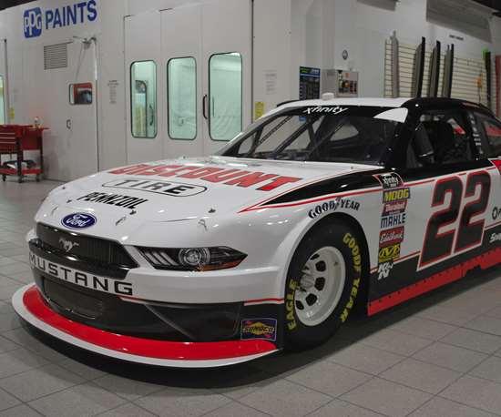 Team Penske NASCAR #22 Discount Tire car