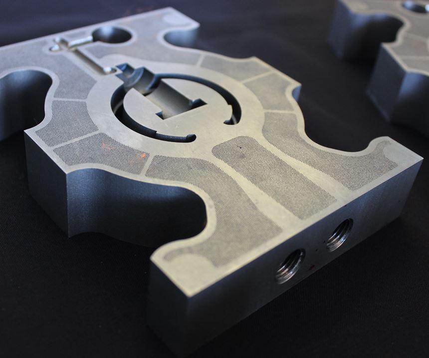 Direct metal laser sintered (DMLS) injection mold