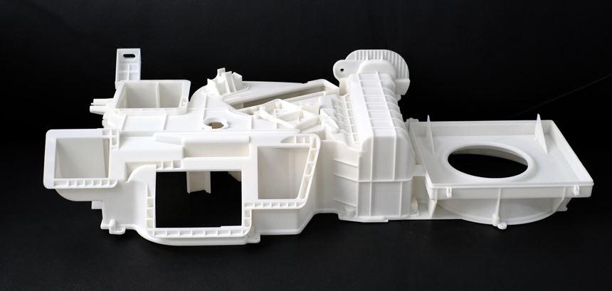 3D printed automotive HVAC ventilation unit