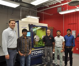Dr. Michael Sealy and team at University of Nebraska-Lincoln with Optomec LENS 3D Hybrid Controlled Atmosphere System