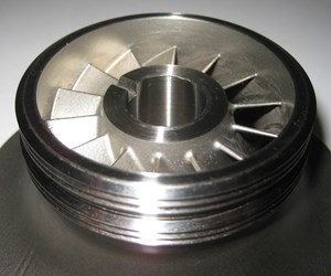 3D-printed and finished shrouded impeller