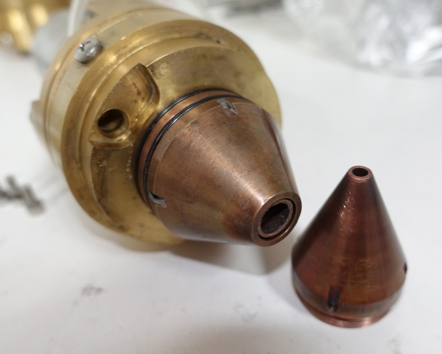 Formalloy's Formax head with its two nozzles