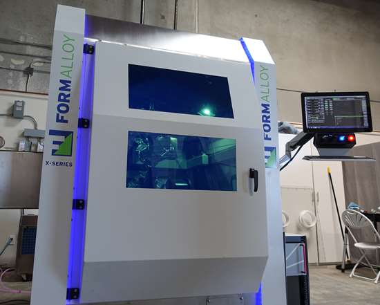 Formalloy X-Series laser metal deposition machine