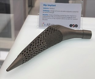 Altair hip stem on display at Formnext 2018