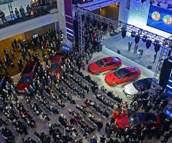Atrium Stage during the North American International Auto Show