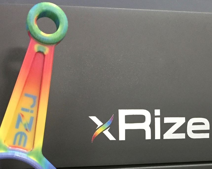 XRize 3D printer and part
