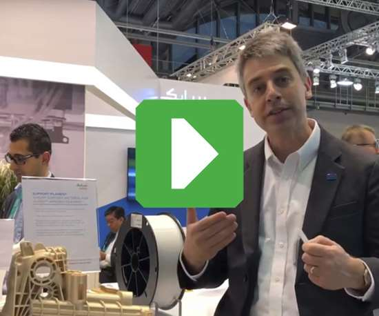 Editor-in-Chief Peter Zelinski at Sabic's booth during Formnext 2018