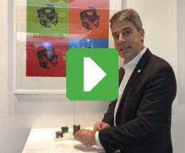 Editor-in-Chief Peter Zelinski at Formnext 2018 in the Sandvik Additive Manufacturing booth