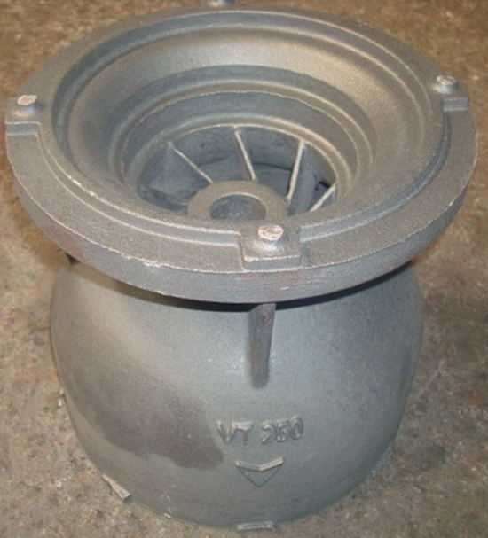 Pump bowl created with 3D-printed mold