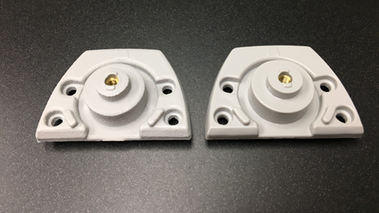 3D-printed plastic mold with aluminum prototype mold