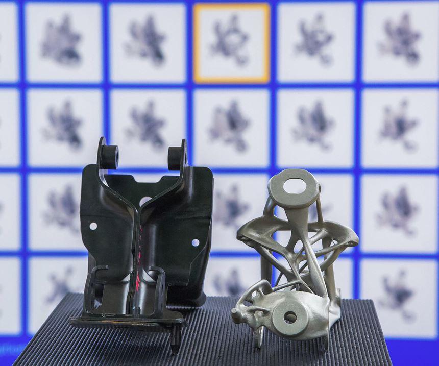 GM generative designed and 3D printed seat bracket