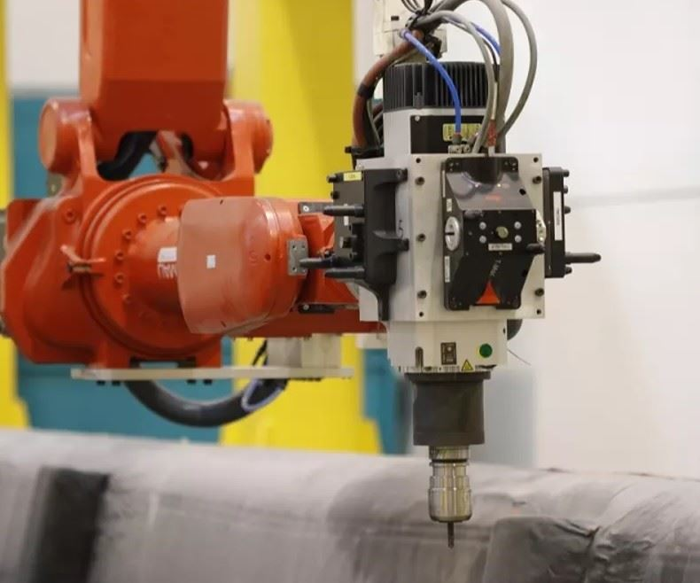 Kraken robotic arm mounted on a gantry