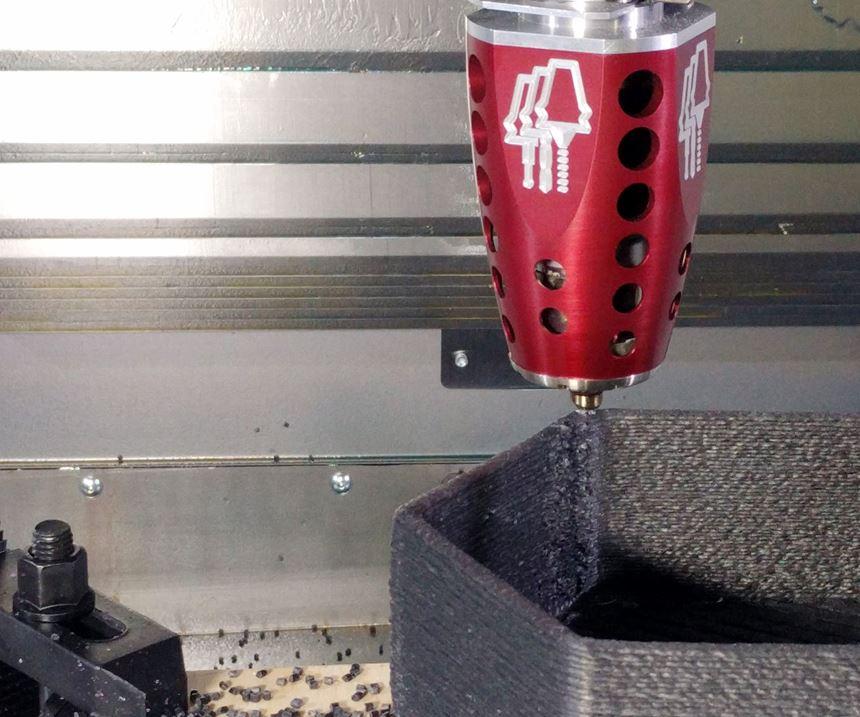 Hybrid Manufacturing's Ambit PE-1 extrusion head