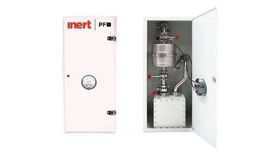 Inert PF-1 powder filtration system