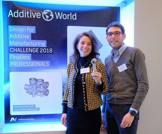 Valeria Tirelli, Aidro Hydraulics CEO, winner of Additive Industries Design Challenge