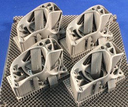 four metal additive manufacturing brackets