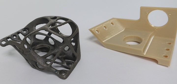 CIMP3D 3D printed bracket and conventional prototype