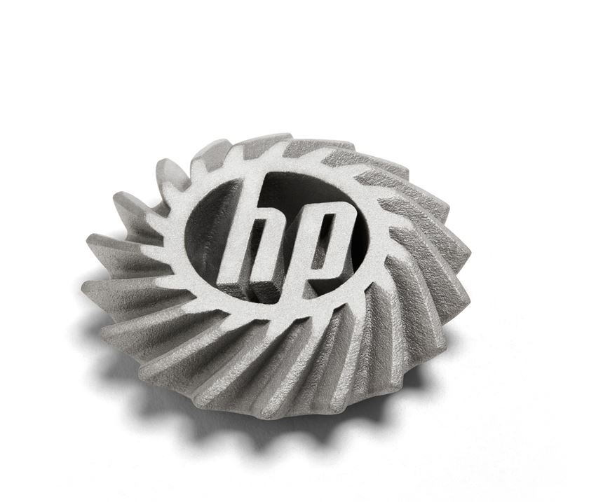 bevel gear made with HP's metal 3D printer