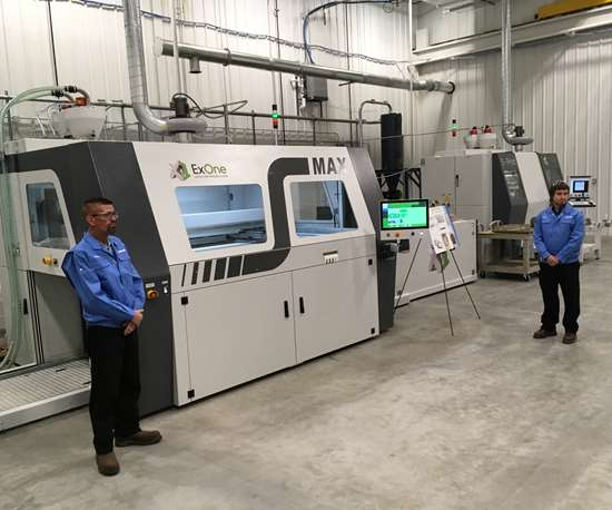 Two ExOne sand printers at new Kimura U.S. plant