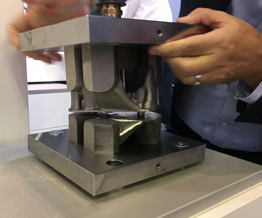 injection mold displayed by Siemens