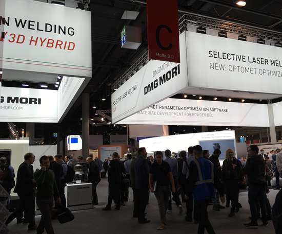 DMG MORI booth at Formnext