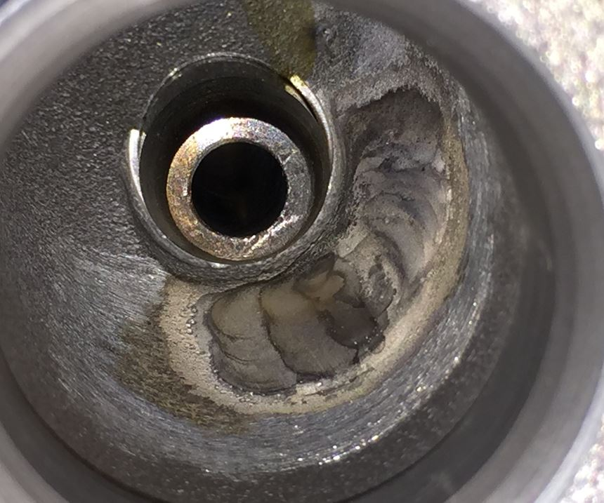 welded port on cylinder head