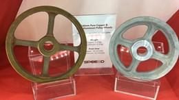 copper and aluminum wheels 3D printed