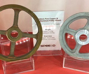 copper and aluminum wheels 3D printed