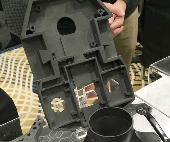 sample parts made by additive manufacturing with polymer composite