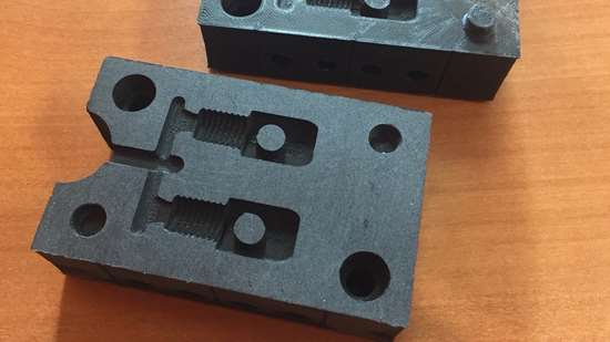 injection mold 3D printed from carbon reinforced plastic