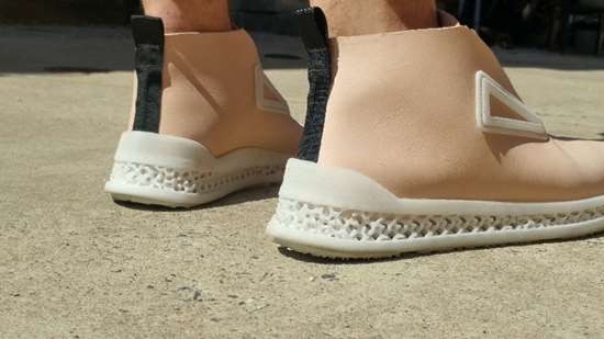 shoe with 3D printed custom midsole