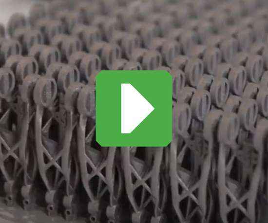 production metal 3d-printed parts illustrating 3d printing for production, additive manufacturing for production