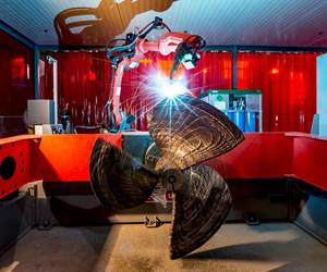 Wire plus Arc Additive Manufacturing (WAAM) building a marine propeller