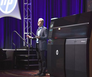 Stephen Nigro of HP at the 2018 Additive Manufacturing Conference