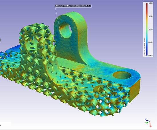 Surface deviation analysis in Simpleware