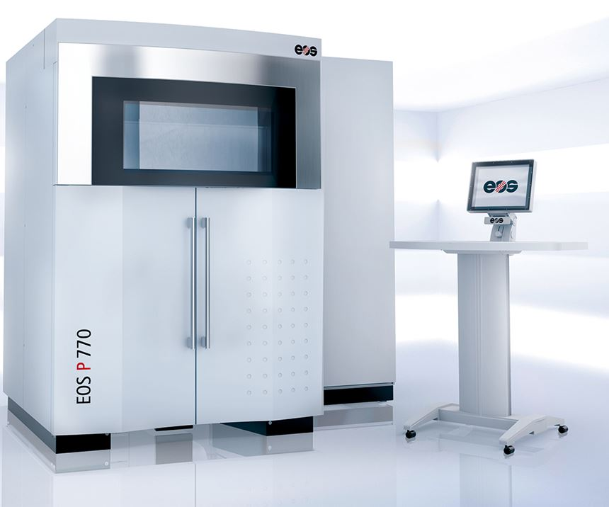 Cideas, two EOS P770 powder-bed fusion laser sintering machines