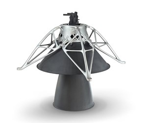 3D-printed aluminum mount, the first 3D-printed part on the moon