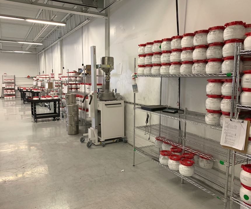 Materials storage and sieving area at Incodema3D