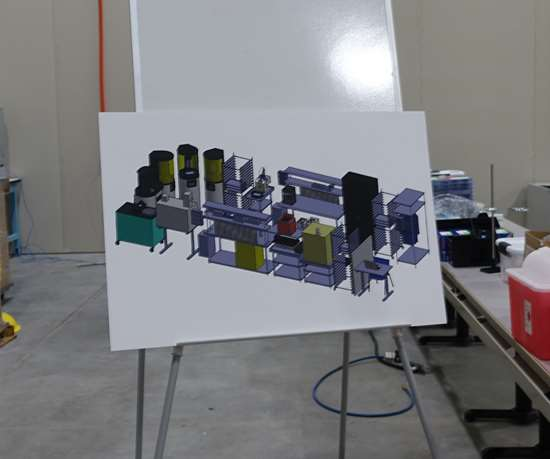 Diagram of the 3D printing department
